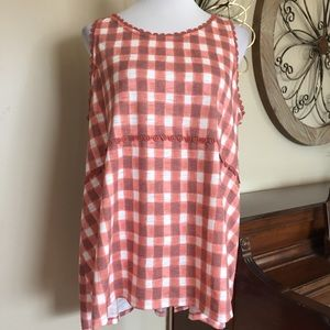 NWT Lauren Conrad XXL Checkered Tank Top